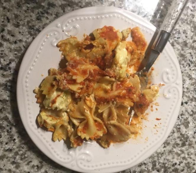 pasta caserole slice